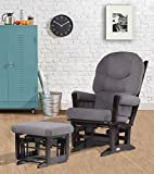Product review for Dutailier Modern Glider Multiposition Recline and Ottoman Set, Espresso and Dark Grey