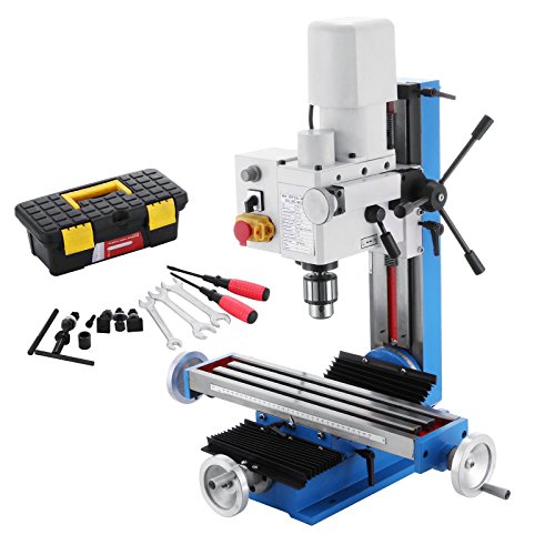 Mophorn Mini Milling Machine 2500RPM 550W Mill Drill Machine Variable Speed 7Inch Headstock Travel Micro Milling Drilling Machine 12mm T Slot Metal Gears (550W Milling Machine)