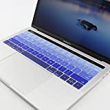 All-inside Ombre Blue Keyboard Silicone Cover for Macbook Pro 13' and MacBook Pro 15' A1706 A1707 with Multi-Touch Bar Released in Late 2016