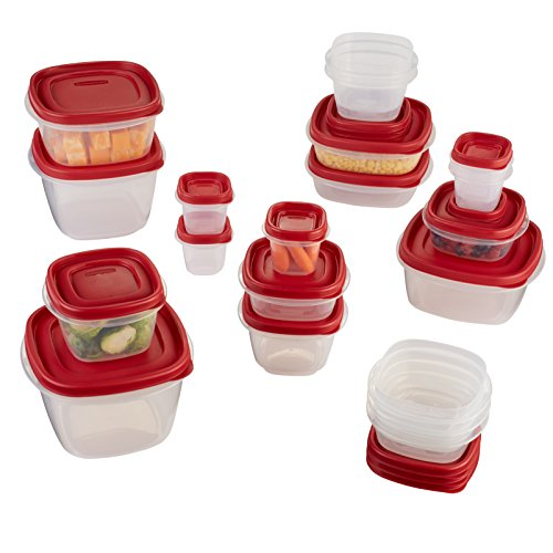 Rubbermaid Easy Find Lids Food Storage Containers, Racer Red, 40-Piece Set 1777169