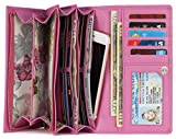 Mou Meraki Women RFID Blocking Real Leather Bifold Wallet-Clutch For Women-Shield Against Identity Theft (PINK)