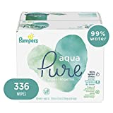 Pampers Aqua Pure Sensitive Water Baby Diaper Wipes, Hypoallergenic and Unscented, 6X Pop-Top Packs, 336 Total Wipes
