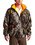 Yukon Gear Men's Reversible Insulated Jacket (Mossy Oak Infinity/Orange, Large)