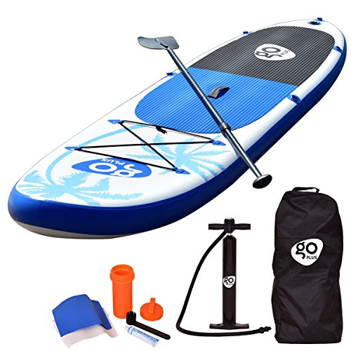 Goplus 11' Inflatable Cruiser SUP Stand Up Paddle Board Package w/ Fin Adjustable Paddle Pump Kit Carry Backpack, 6' Thick