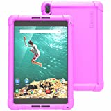 Google Nexus 9 Case - Poetic Google Nexus 9 Case [Turtle Skin Series] - [Corner/Bumper Protection] [Grip] [Sound-Amplification] Protective Silicone Case for Google Nexus 9 Purple (3 Year Manufacturer Warranty From Poetic)