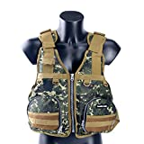 Amairne-made Boat Buoyancy Aid Sailing Kayak Fishing Life Jacket Vest Camouflage - D22-Green