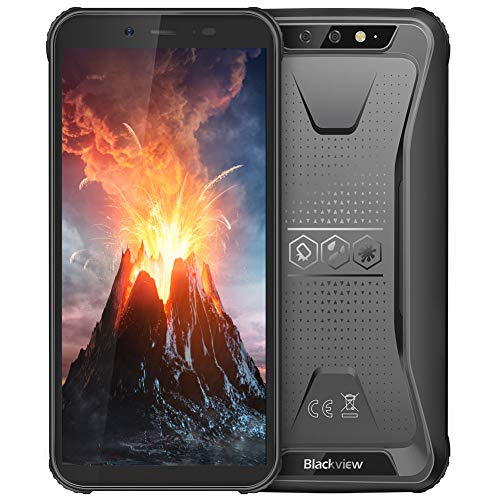 Rugged Cell Phone Unlocked, Blackview BV5500 GSM IP68 Waterproof Smartphone, Android 8.1 3G Dual SIM 5.5 inch Quad Core 2GB+16GB, 4400mAh Battery [MIL-STD 810G] [Facial Recognition] Cellphone, Black