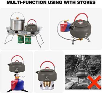 REDCAMP-08L09L14L-Outdoor-Camping-Kettle-Aluminum-Tea-Kettle-with-Carrying-Bag-Compact-Lightweight-Coffee-Pot