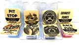 Mels Candles & More Combo Mens Sample Set 8 Different 1/2oz Packs of Soy Wax Melts - High Octane, Burnt Rubber, Racing Fuel, Exhaust Fumes, Motor Oil, Pit Stop, Gun Powder & Gun Metal