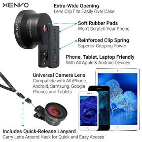 Xenvo-Pro-Lens-Kit-for-iPhone-Samsung-Pixel-Macro-and-Wide-Angle-Lens-with-LED-Light-and-Travel-Case
