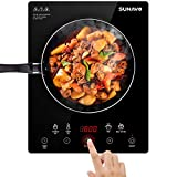 SUNAVO Portable Induction Cooktop, 1800W Sensor Touch Multifunction Induction Burner, 15 Temperature Power Setting CB-I11A