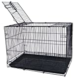 Product review for YML 20-Inch Small Animal Crate with Wire Bottom Grate and Black Plastic Tray, White