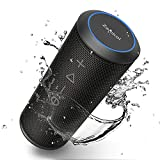 Bluetooth Speaker, Zamkol Bluetooth Speakers Portable Wireless, 360 Degree Sound and 24W Enhanced X-Bass, Dual Pairing Loud Wireless Speaker, IPX6 Waterproof for Beach, Shower, Travel, Party