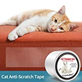 CrystalMX Anti-Scratch Cat Training Tape, Cat Scratching Deterrent Tape Clear Furniture Protector 4 Inches x 33 Yards