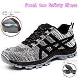 GUDUN Unisex Breathable Steel Toe Shoes for Men Steel Toe Sneakers Men Steel Toe Boots (13-18 to delivery) (US Men 9 / EU 44, GD13)