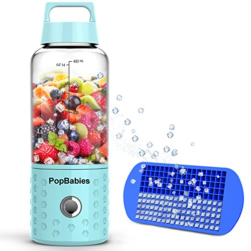 Smoothie-Blender-Portable-Blender-USB-rechargeable-PopBabies-Personal-Blender-for-single-served-Small-Blender-for-Shakes-Stronger-and-Faster-with-Ice-Tray-and-Recipe-FDA-and-BPA-free