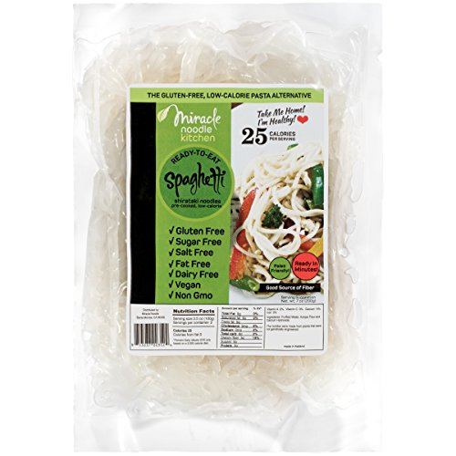 Miracle Noodle Organic Shirataki Spaghetti, Gluten-Free, Zero Carb, Keto, Vegan, Soy Free, Paleo, Blood Sugar Friendly, 7oz (Pack of 6) 3