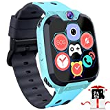 Kids Game Smart Watch Phone - 1.54' Touch Screen Game Smartwatches with [1GB Micro SD Card] Call SOS Camera 7 Games Alarm Clock Music Player Record for Children Boys Girls Birthday Gifts 3-10 (Blue) ...