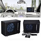 Car Air Conditioner,SHZONS Car Cooling Air Fan,DC12V Evaporative Air Conditioner Portable Mini Cooling...