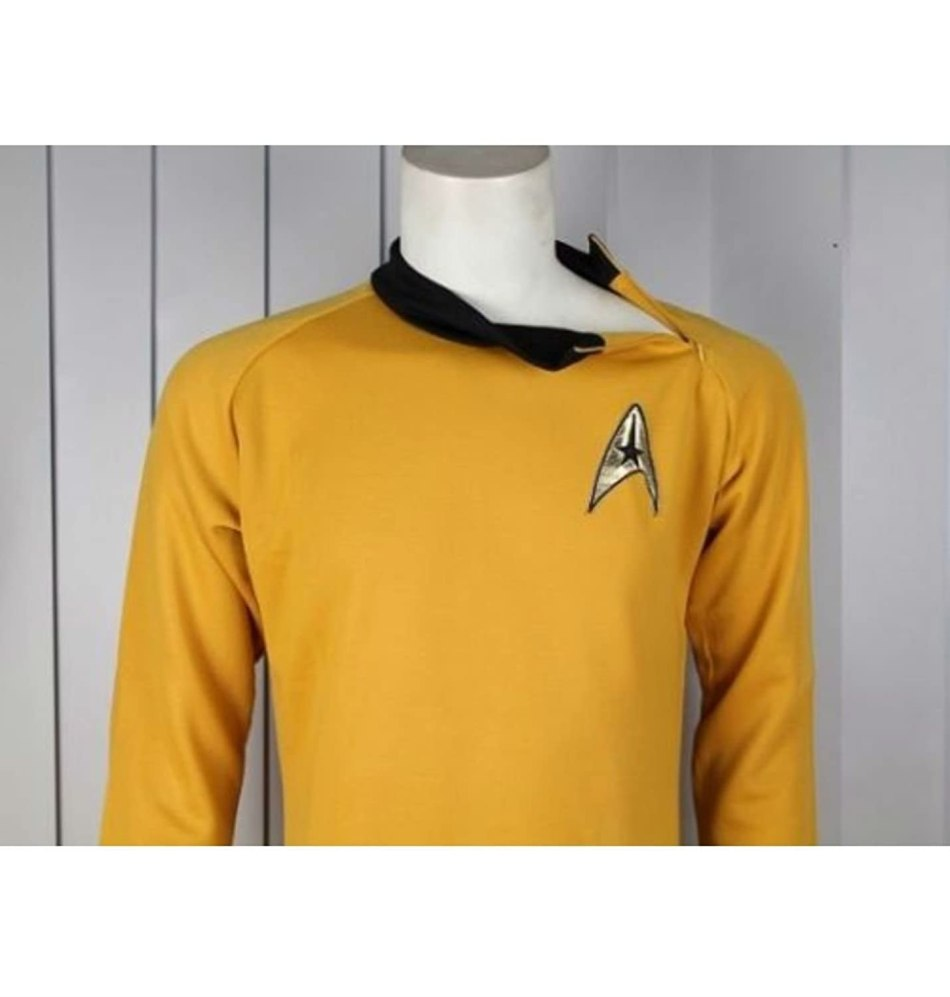 original star trek costumes for adults - Star Trek Captain Kirk CLASSIC Gold Shirt TOS