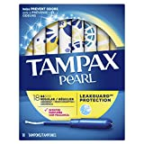 Tampax Pearl Tampons with Plastic Applicator, Regular Absorbency, Scented, 18 Count