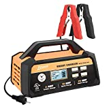 Ampeak 2/10/25A Smart Battery Charger/Maintainer 12V Fully Automatic with Start Aid