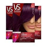 Clairol Vidal Sassoon Pro Series Hair Color, Deep Velvet Violet, 3 Count