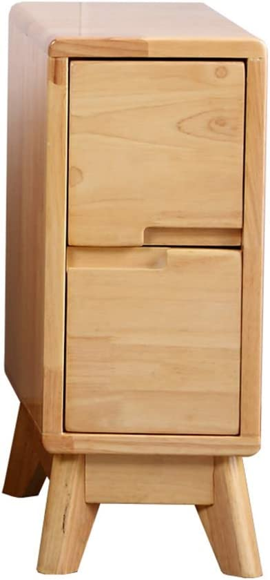 Haizhen Solid Wood Bedroom Bedside Table 20 25 30cm Narrow Side Table With Two Drawers Natural Color Size 30 40 50cm Amazon Co Uk Kitchen Home