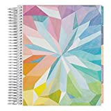 Erin Condren 12-Month July 2019 - June 2020 Coiled LifePlanner - Kaleidoscope Colorful, Vertical (Colorful Layout)