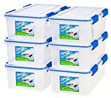 Ziploc WeatherShield 44 Quart Storage Box, 4 Pack, Clear
