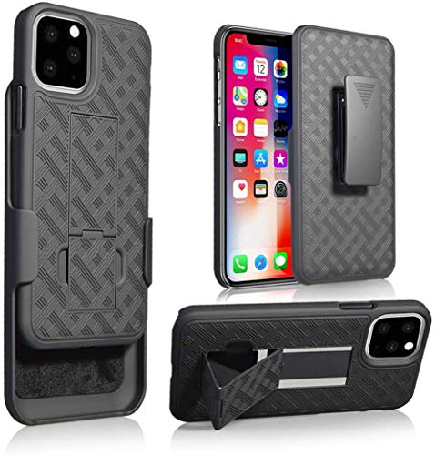 "CASEME Bolt Series for iPhone 11 Pro Max Back Cover Case - Heavy-Duty Military-Grade Drop Protection with Kickstand Included Belt Clip Holster - 6.5"" 2019, Black (iPhone 11 Pro Max (6.5 inch)) 125"
