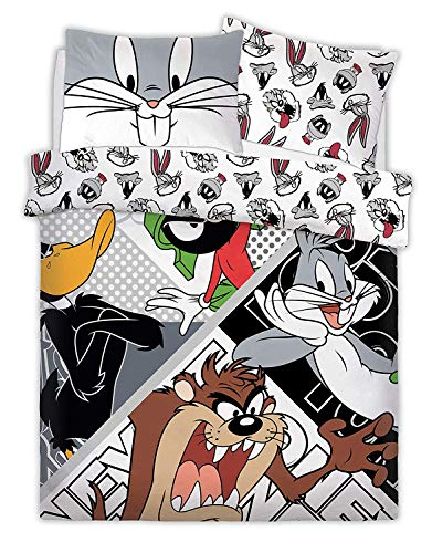 Premier Life Store Looney Tunes Crew Duvet/Quilt Cover & Pillowcase - Double, Polycotton