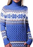 Product review for FLCH+YIGE Women's Long Sleeve Snowflake Print Christmas Knitting Sweater Dress
