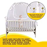 Nahbou Baby Crib Pop Up Tent: Infant Bed Safety Canopy Cover & Mosquito Net for Nursery