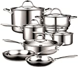 Cooks Standard NC-00232 Stainless Steel 12-Piece Multi-Ply Clad Cookware Set, Silver