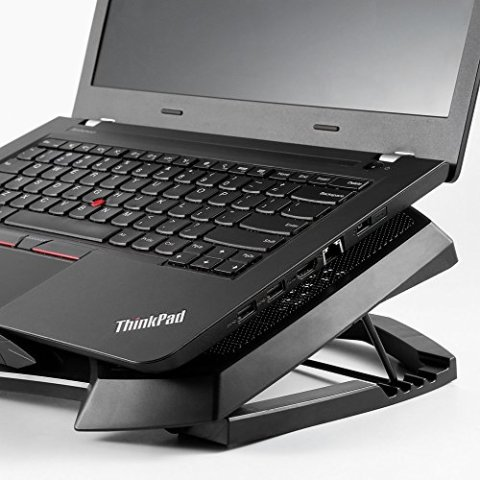 ノートパソコン 冷却パッド ノートPCクーラー LESHP パソコン 冷却 ファン 薄型 冷却台 超静音 2ファン USBポート 2口 LED搭載 切替スイッチ付 風量調節可 高度調節可17インチまで対応 ブラック (3ファン)