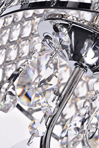 Edvivi Marya 4-Light Chrome Round Crystal Chandelier Ceiling Fixture | Beaded Drum Shade | Glam Lighting 5