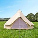 Free Space Big Family Camping Bell Tent (Beige, 4 Meters in Diameter)