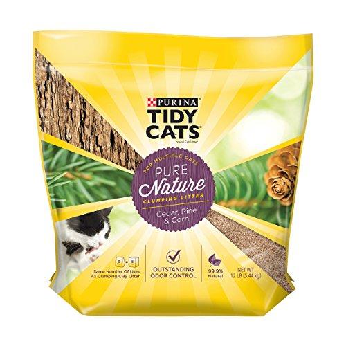 Purina Tidy Cats Natural Clumping Cat Litter; Pure Nature Cedar, Pine & Corn Cat Litter - 12 lb. Bag