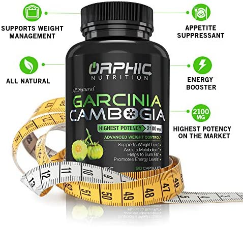 100% Pure Garcinia Cambogia Extract - Appetite Suppressant - Carb Blocker Capsules - 2100 MG - 90 Caps 4