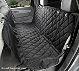 4Knines Dog Seat Cover with Hammock for Cars, Small Trucks, and SUVs - Black Regular - USA Based Company