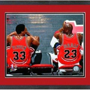 Michael Jordan & Scottie Pippen Chicago Bulls NBA Photo 12.5″ x 15.5″ Framed