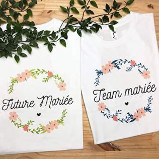 Future-Marie-Fleurs-T-Shirt-Femme-Ide-Cadeau-Mariage-Cadeau-EVJF-Drle