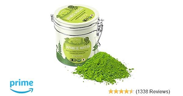 Amazon Com Premium Japanese Matcha Green Tea Powder St Harvest Ceremonial Highest Grade Usda Jas Organic From Japan G Tin  Oz Perfect