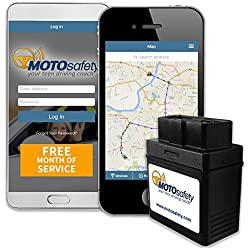 MOTOsafety OBD 3G Car Tracker with FREE Month of Service, Vehicle Tracking Devices, Car GPS Tracker for Car, Real Time GPS Teen Tracker with Driving Reports, Vehicle Maintenance MPAAS1P1