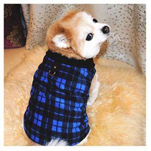 Petea Cozy Dog Clothes British Style Plaid Dog Vest Winter Villi Coat Warm Pet Puppy Apparel for Dogs and Cats