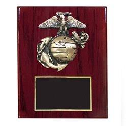 U.S. Marine Plaque with Brass Emblem