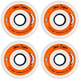 Labeda Gripper Roller Hockey Inline Wheels White 76mm Soft 78A 4 Pack
