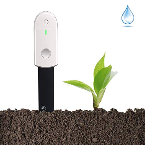 Diwenhouse Soil Moisture Meter Test Kit - Waterproof Soil Water Monitor Hygrometer for Indoor Plants Gardening Pot Flowers, Led Lights Instant Detection