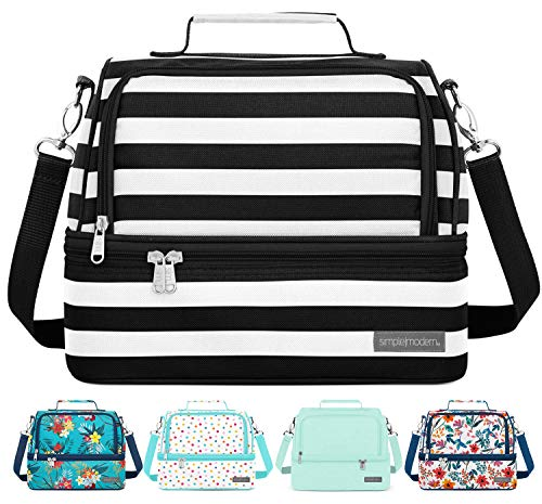 Simple Modern 8L Myriad Lunch Bag for Women & Men - Insulated Kids Lunch Box Stripes: Tuxedo